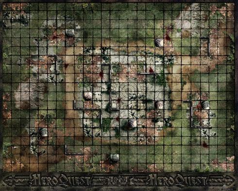 Plateau Héroquest , le temple détruit