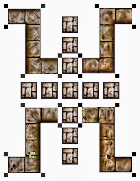 Couloirs et murs.