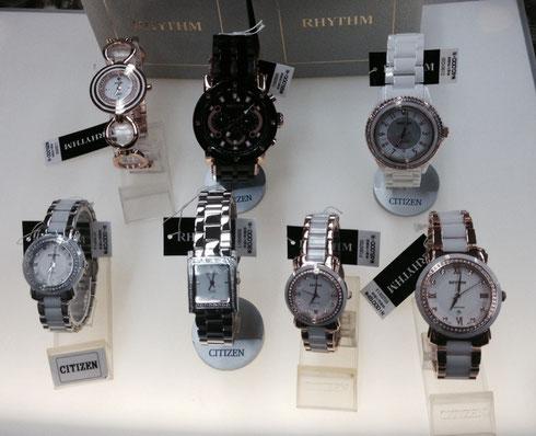 リズム時計の腕時計
