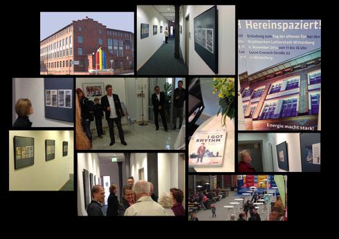 """Die Comicstory """"I got Rhythm"""" von Caroline Gille und Niels Schröder (erschienen im be.bra verlag Berlin) wurde in Form einer Auswahl der Originalzeichnungen nun auch in einer Ausstellung in der Lutherstadt Wittenberg (Sachsen-Anhalt) gewürdigt."""