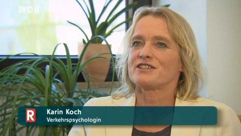 Verkehrspsychologin Karin Koch im WDR in der Sendung (R)echt clever