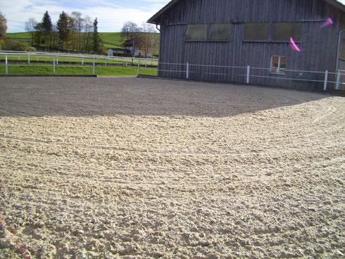 20m x 20m Sand-Fliesgemisch