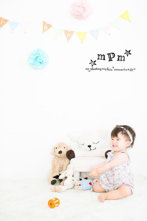 子ども写真 一歳の誕生日