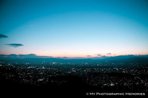 夕暮れの京都の街並が美しいです