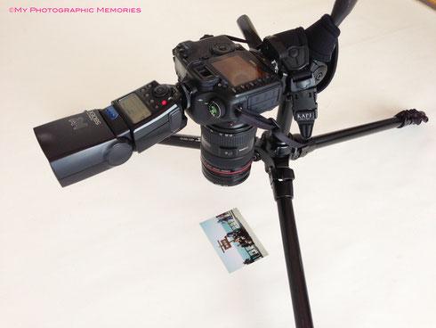 カメラで古い写真をデジタル化!:斜めから