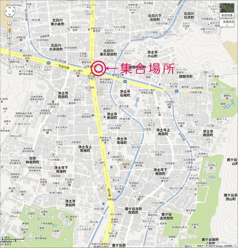 集合場所地図◆PCのみクリックすると拡大します◆