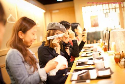 水族館の後、お腹が空いたのでみんなで天ぷらを食べにいきました☆