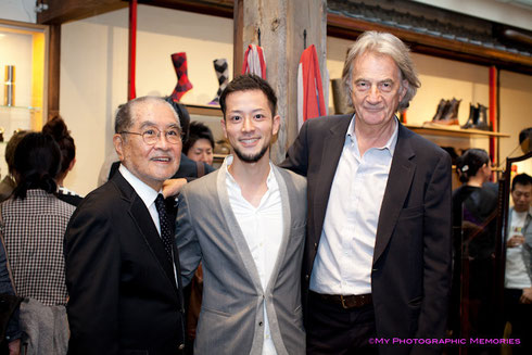 鋤田正義氏、ポールスミス氏と一緒に写真を撮ってもらいました☆