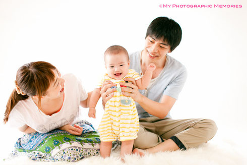 家族3人でNiceショット☆