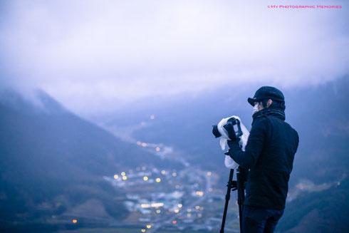 雨が降っていたので、ビニール袋でカメラを保護☆