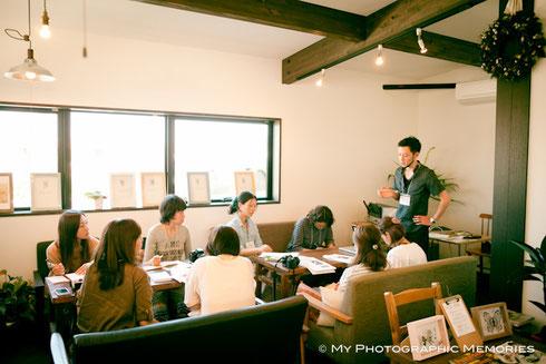 本日の授業風景:素敵な店内で落ち着いて授業ができました☆