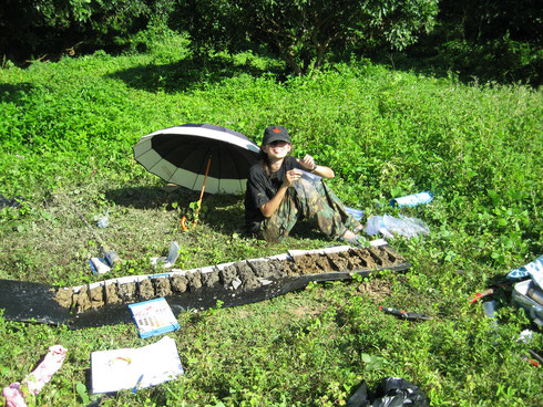 Having fun in the sun, it's in my blood: excavating flood sediments at Wiang Kum Kam