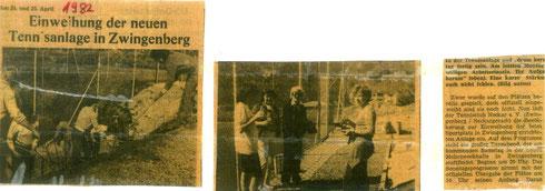 Zeitungsartikel Platzeinweihung 1982