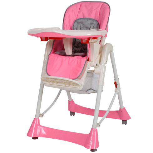 Chaise Haute Bébé / Enfant en Rose