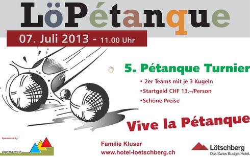 Plakat 5. Pétanque 2013