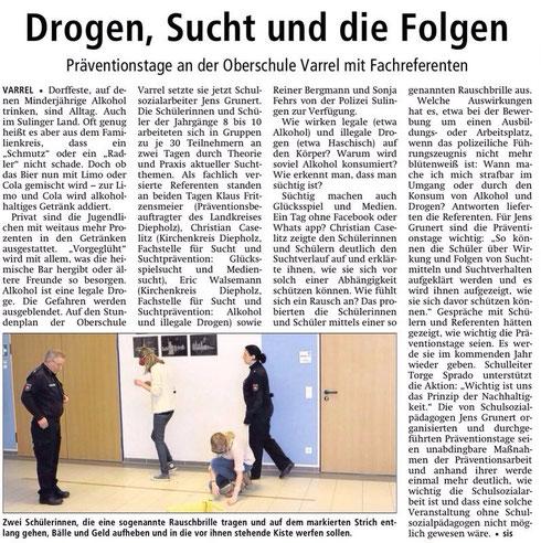 Bericht aus der Sulinger Kreiszeitung vom 28.01.2014