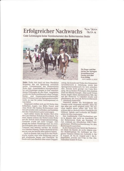 Vereinsturnier 29.06.2014 Mein Verein