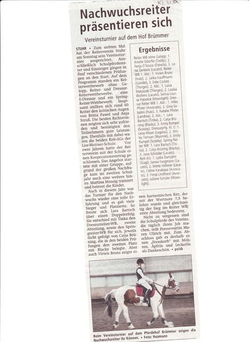 Vereinsturnier 29.062014 Artikel Kreiszeitung