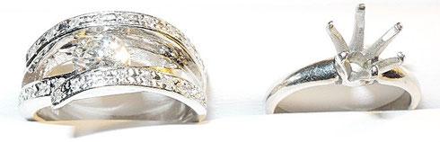 ダイヤはそのままで、デザインを改良。ジュエリーリフォーム受付中。