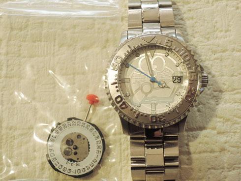 文字盤に「ドラえもん」の姿が。数量限定の珍しい腕時計を修理。