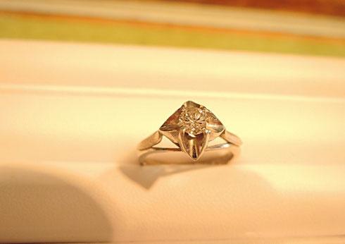 ジュエリーリフォーム例:指輪からネックレスへ