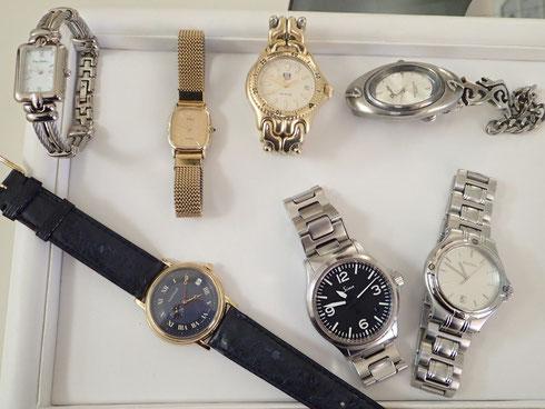 すべて、お客様よりお預かりした腕時計のオーバーホール完了品。