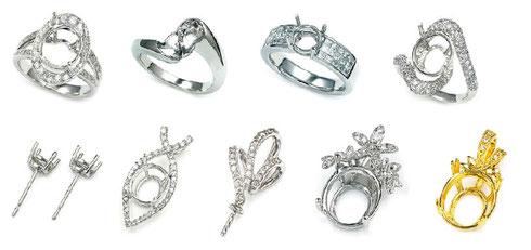 指輪、ネックレス、ピアス、イヤリングなどのリフォーム受付中