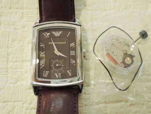 エンポリオ アルマーニ 時計修理完了。