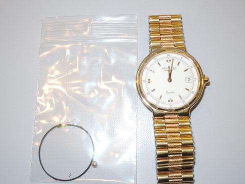 往年の名門ブランド「ロンジン」腕時計。オーバーホール修理とリューズ部品交換完了