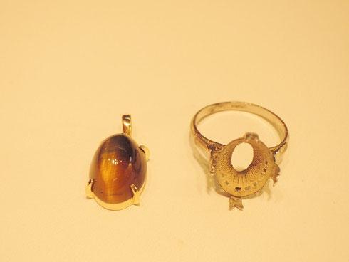 古くなって、ほとんどしなくなった指輪。宝石をうまく使ってリフォームすればこの通り!とってもキレイですね