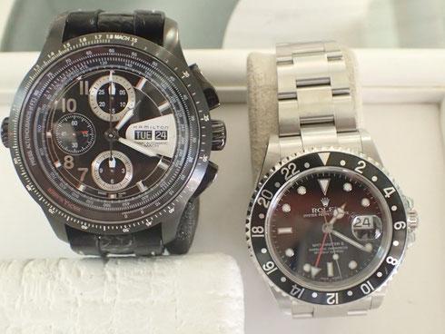 一緒にお預かりした「ハミルトン」の腕時計も修理できました