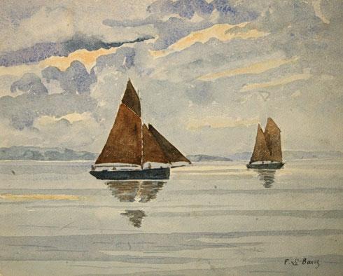 Bateaux de pêche en rade de Brest.