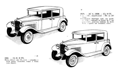 La Citroën C4 de 1929 en conduite intérieure.