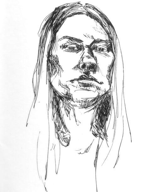Zeichnung, Jaqueline Kastenholz, Sketch, Skizze, Art, Kunst, Koblenz, Koblenzerin, expressiv, zeitgenössische Kunst, Atelier, Künstlerin, Drawing, Porträt, Portrait,