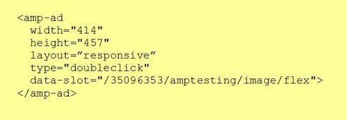 Пример адаптивного объявления для AMP-страниц