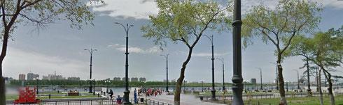 Панорама города Благовещенск (Амурская обл.), вид на набережную