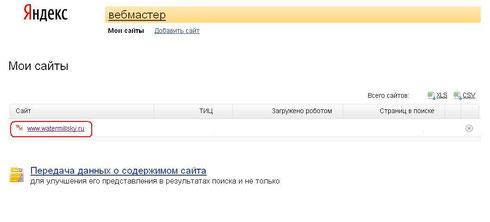 Оригинальные тексты Яндекс. Выбор  сайта