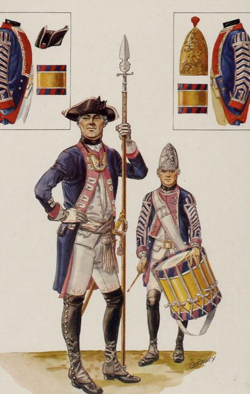 Hessian Fusilier Officer & Drummer