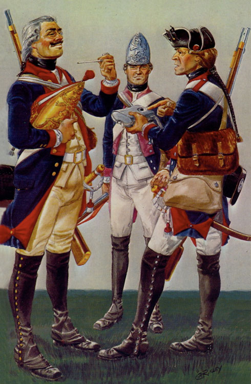 Left to Right: Grenadier, Fusilier and Musketeer
