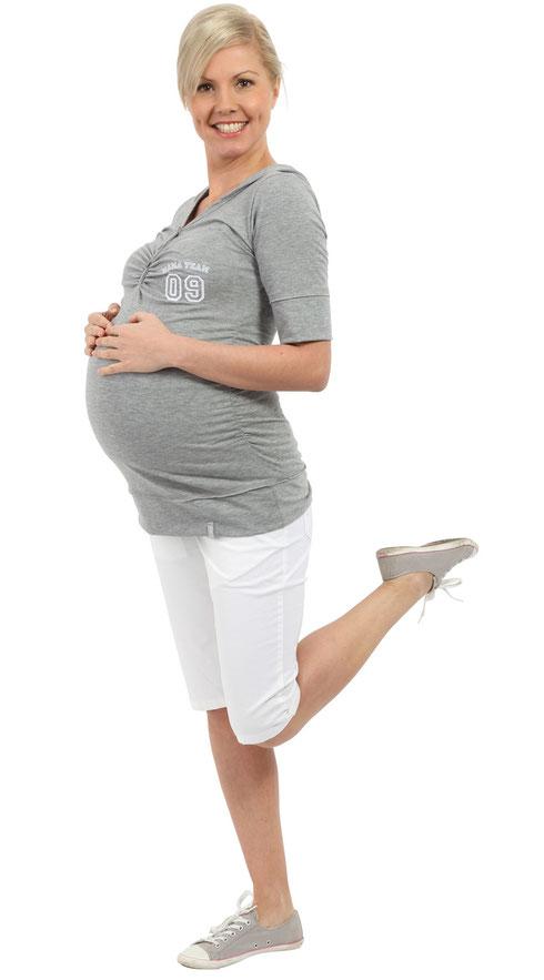 Maternity Hoodie - Gray