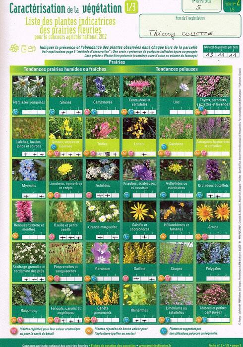 La diversité floristique présente dans les prairies de l'EARL DU P'TIT BOIS
