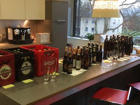Bierverkostung bei der BodenseeBank durch Mitarbeiter Andreas Jack