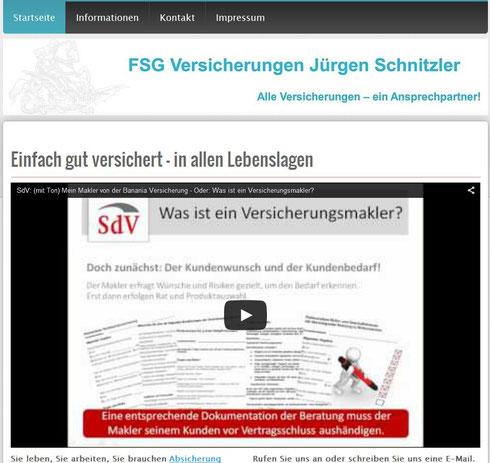 Bild der Website FSG-Versicherungen