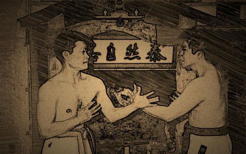 Kakie Training im Kenshikai Dojo von Hokama Tetsuhiro Sensei in Okinawa