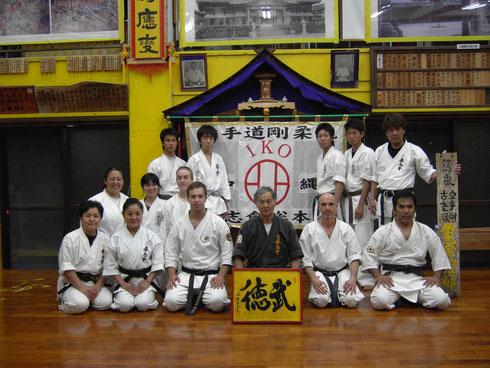 Der Autor im Dojo seines Lehrers, Hokama Tetsuhiro, Hanshi, 2009