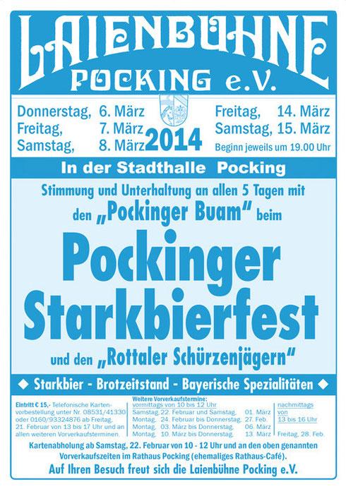 Flyer zum Starkbierfest 2014