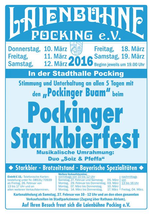 Pockinger Starkbierfest 2016 vom 10. - 19. März