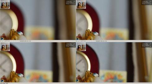 Боке f/2.8 - f/8.0, увеличение 50%