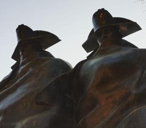 Realizzato nel 2014 per il bicentenario della fondazione dell'#armadeicarabinieri, il monumento nei giardini di sant'Andrea al Quirinale riproduce una scultura realizzata da Antonio Berti nel 1973