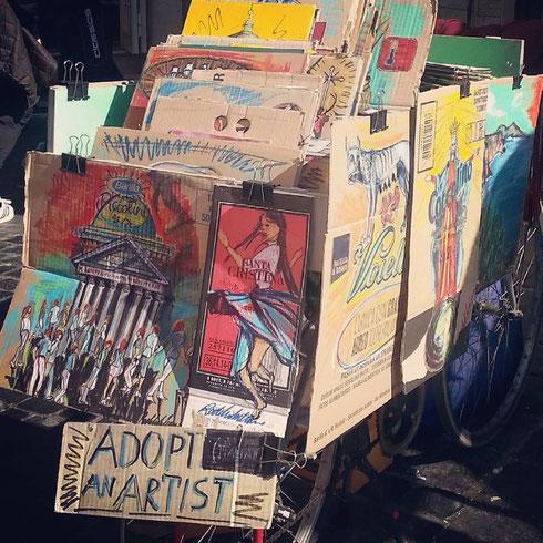 Adopt an artist, adotta un artista...succede nei pressi del Pantheon